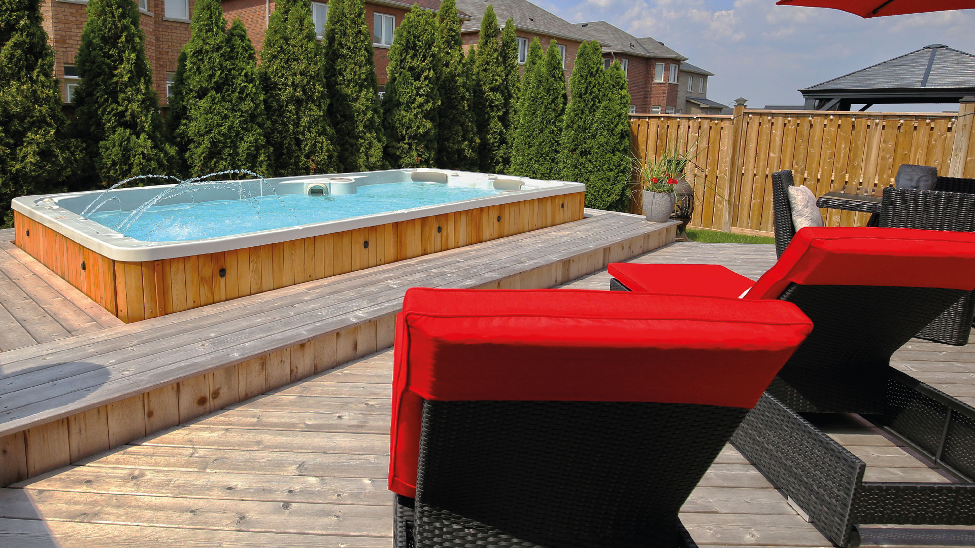 At Hydropool Devon we provide self-cleaning SwimSpas as well as rattan garden furniture, that is both weatherproof and UV resistant.
